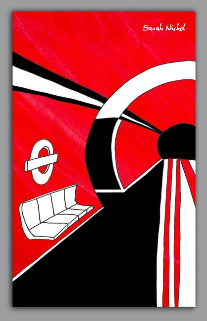 london_sarah_nickel_19_londontube_institut_red_black_white_rot_schwarz_weiß_zeichnungen_illustration