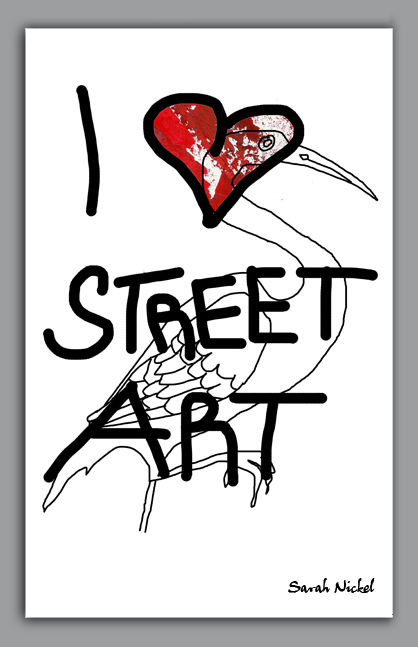 london_sarah_nickel_22_streetart_institut_red_black_white_rot_schwarz_weiß_zeichnungen_illustration