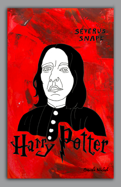 london_sarah_nickel_25_snape_harrypotter_red_black_white_rot_schwarz_weiß_zeichnungen_illustration